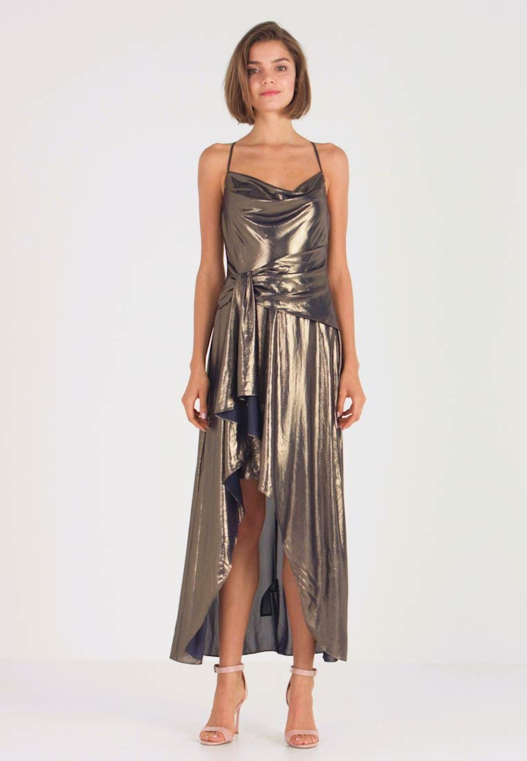 Forever New - METALLIC COWL DRESS - Occasion wear - gold