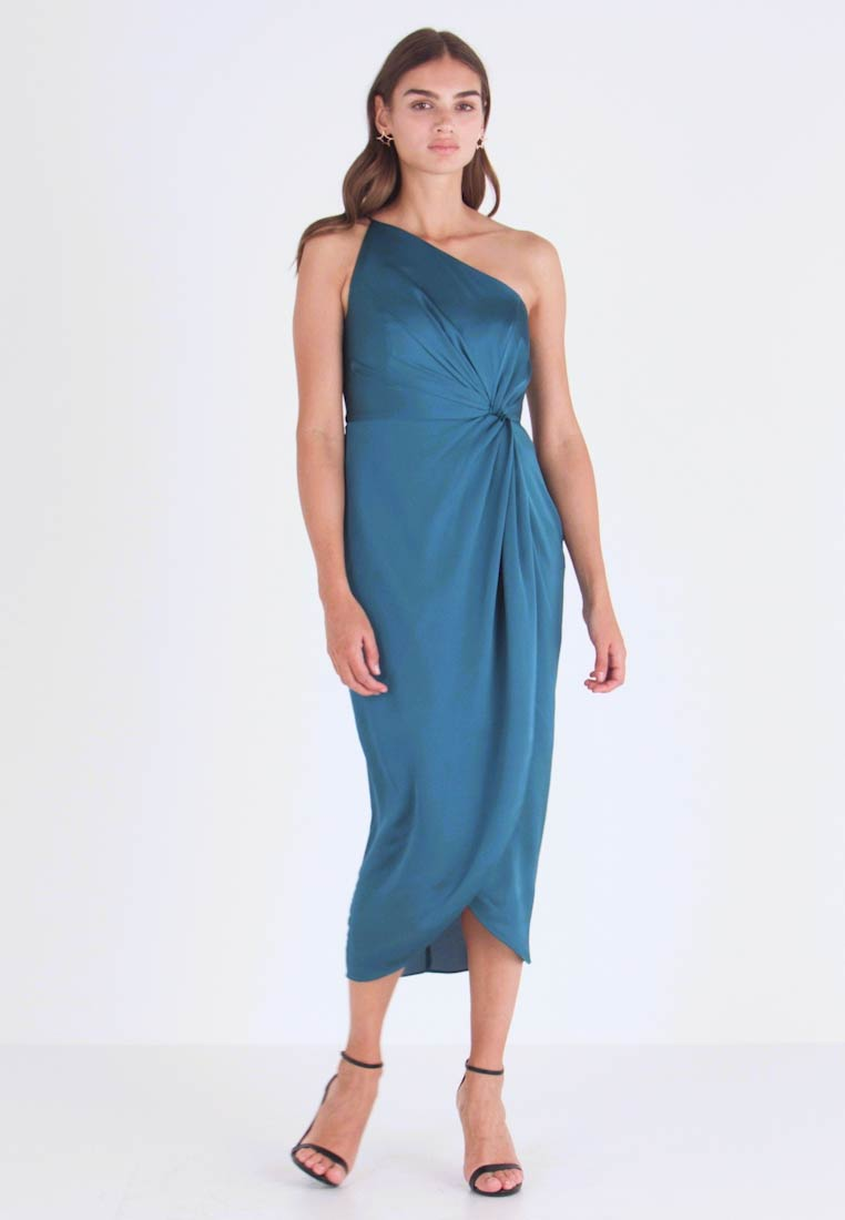 Forever New - ONE SHOULDER TWIST DRESS - Cocktailklänning - turquoise