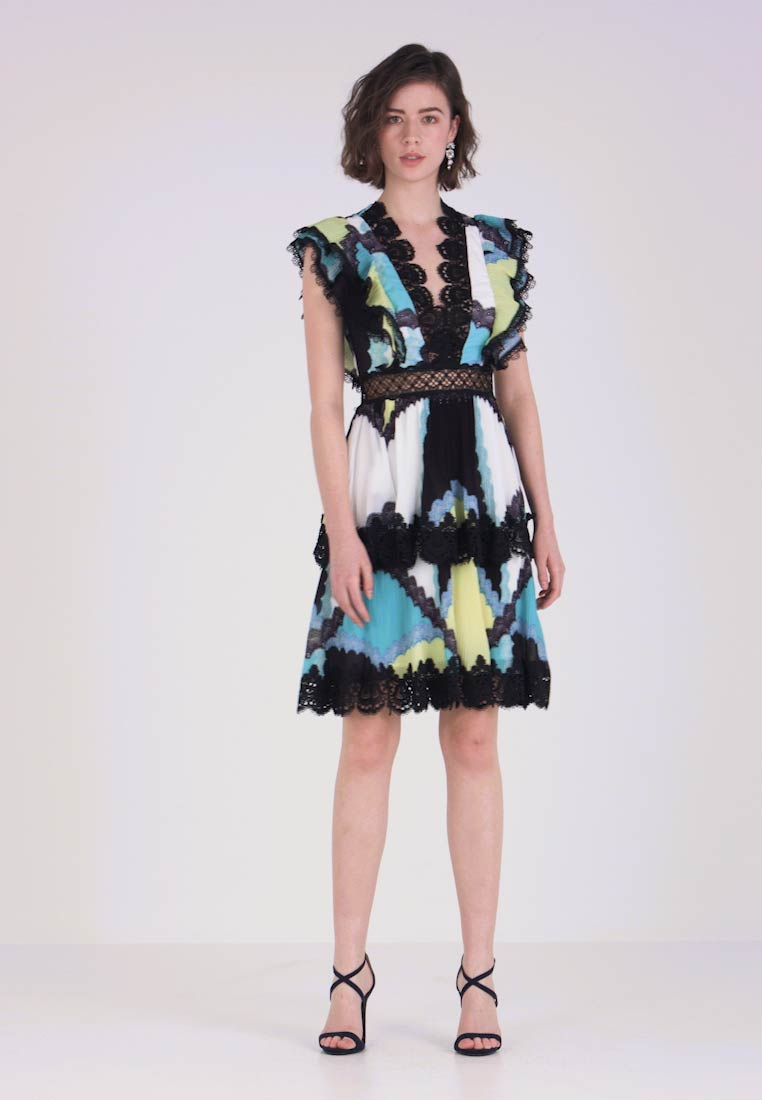 Forever Unique Main Collection - SOL - Cocktailkleid/festliches Kleid - turquoise/yellow/blue