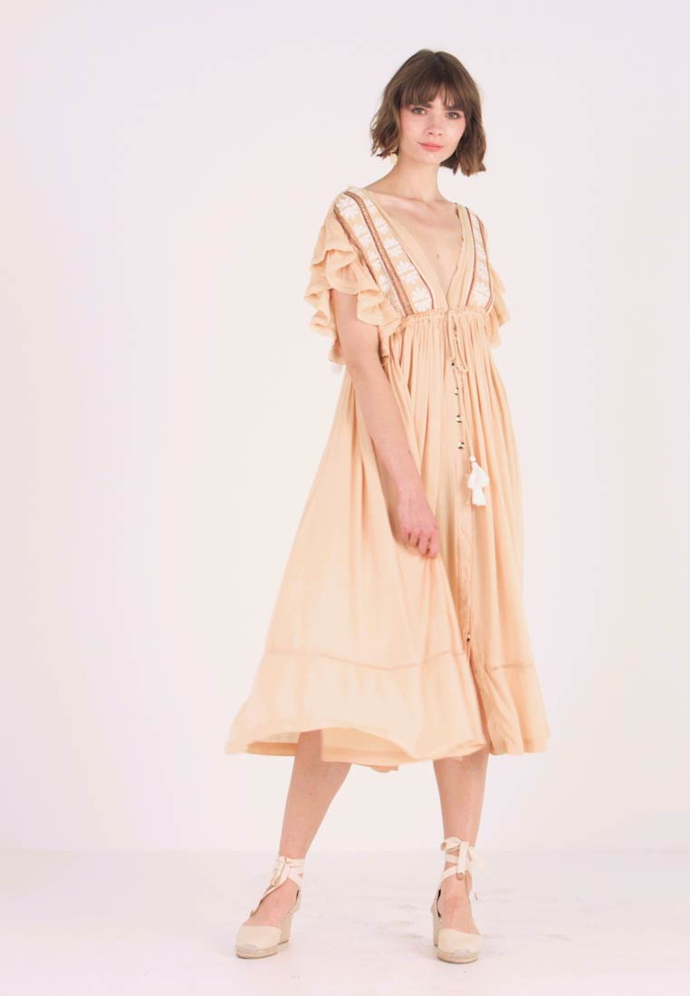 Free People - WILL WAIT FOR YOU MIDI - Maxi-jurk - natural