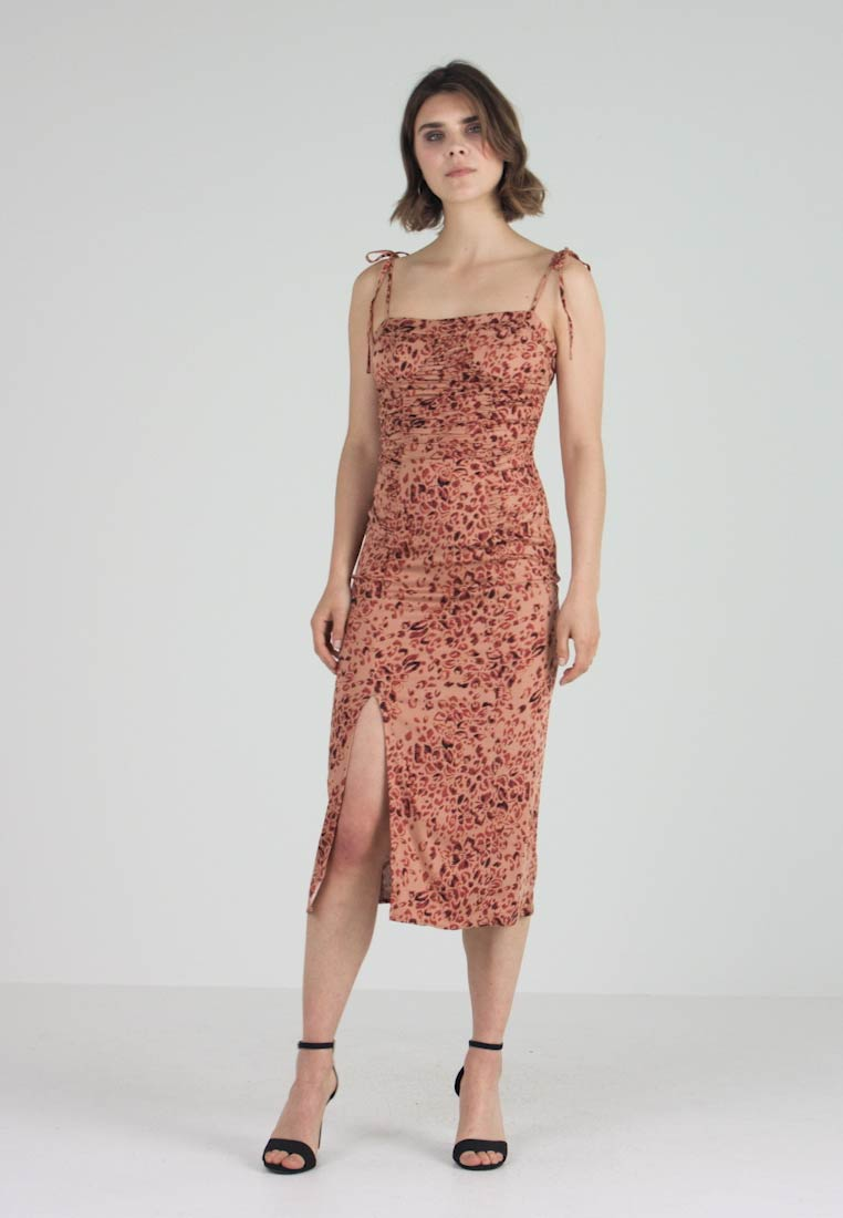 Free People - SHOW STOPPER MIDI - Day dress - brown combo