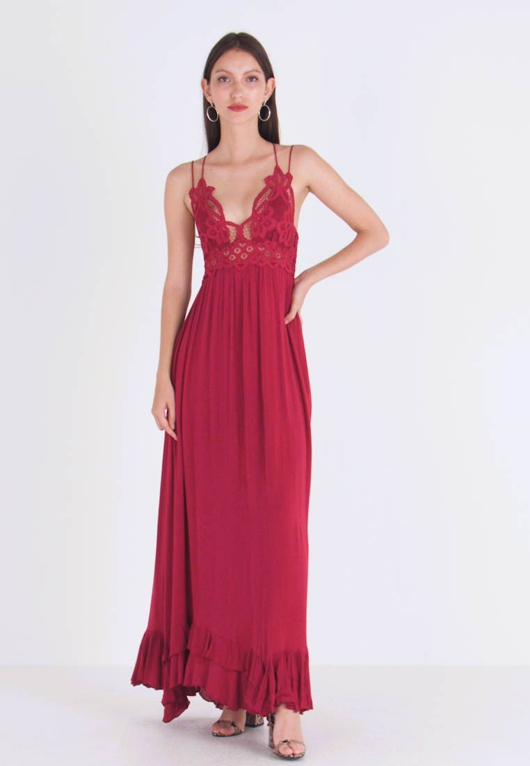 Free People - ADELLA SLIP - Maxi dress - raspberry