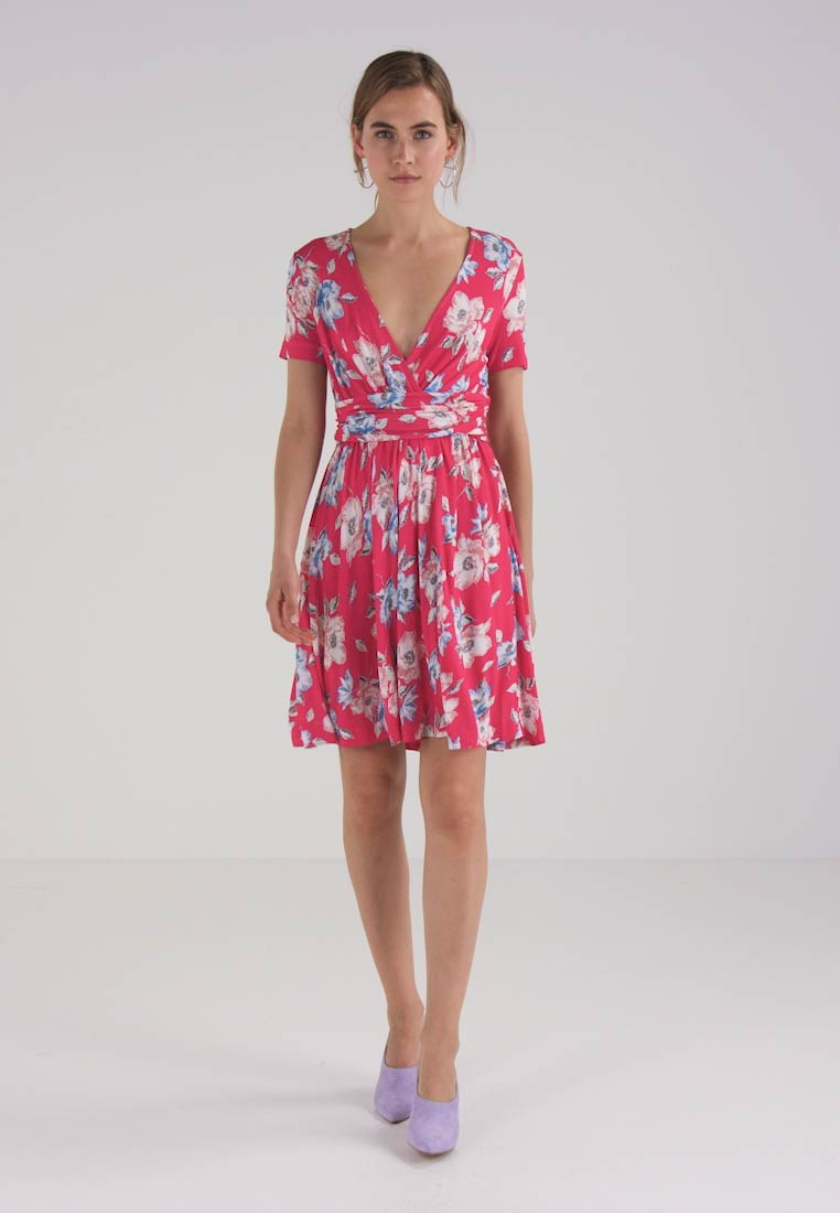 French Connection CARI MEADOW WRAP DRESS - Jerseykjole - azalea