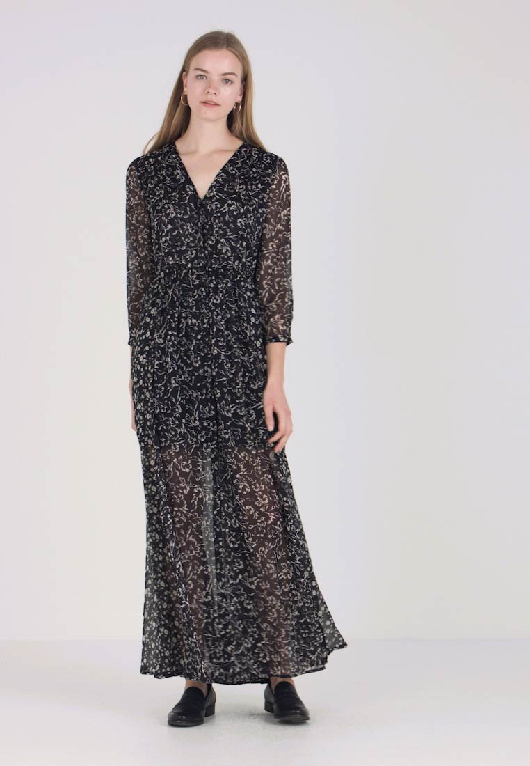 French Connection - AMELIEA CRINKLE - Maxi-jurk - utility blue multi