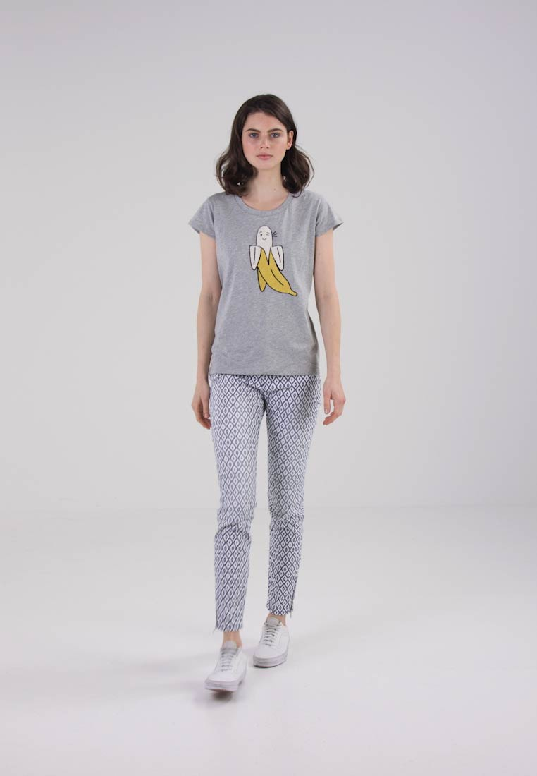 French connection banana tee t shirt print grey for T shirt printing delaware