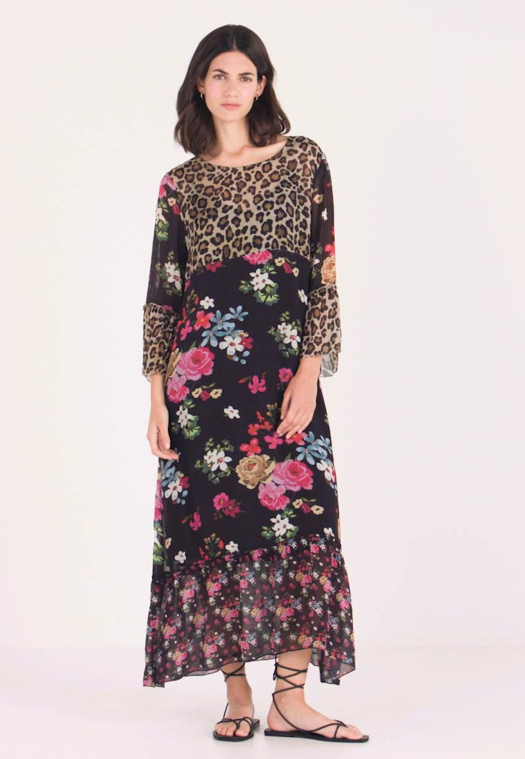 Grace - FLOWERS - Maxikleid - black