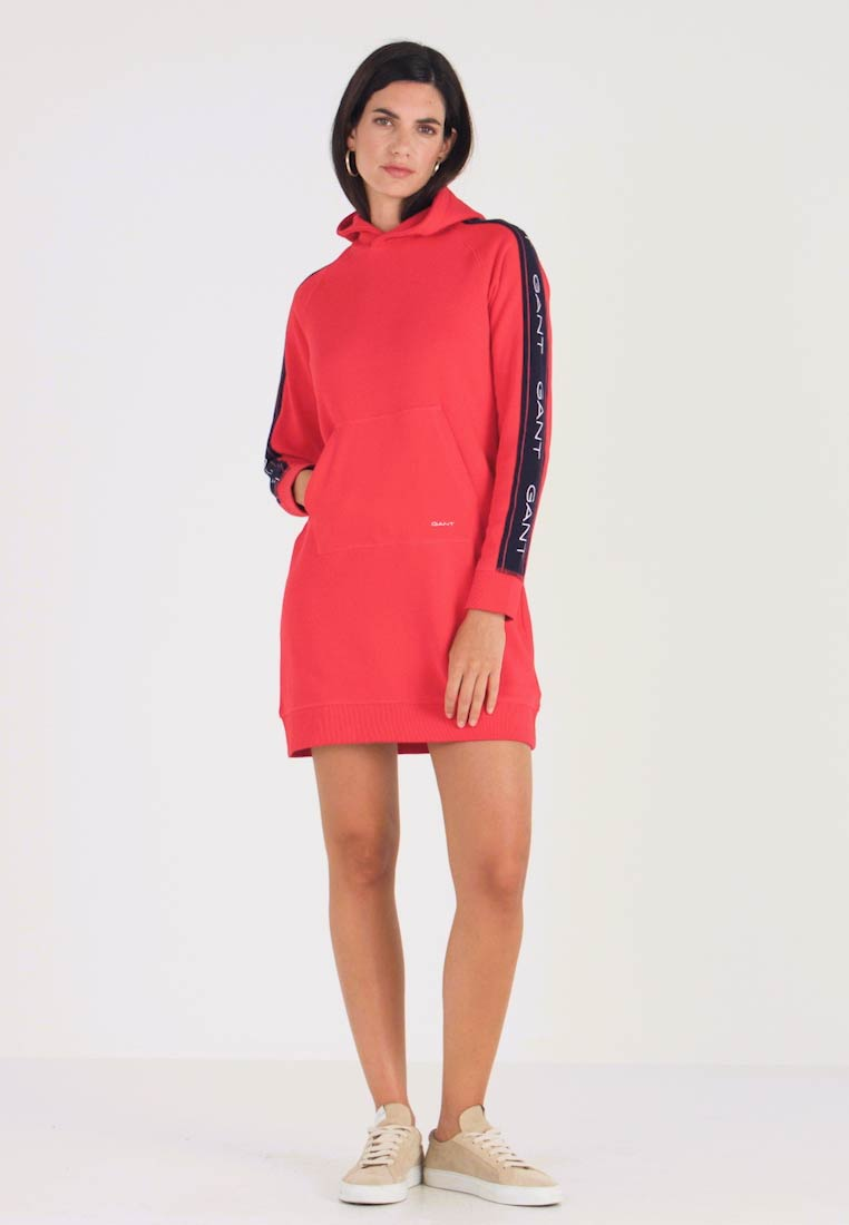 GANT - ARCHIVE HOODIE DRESS - Day dress - bright red