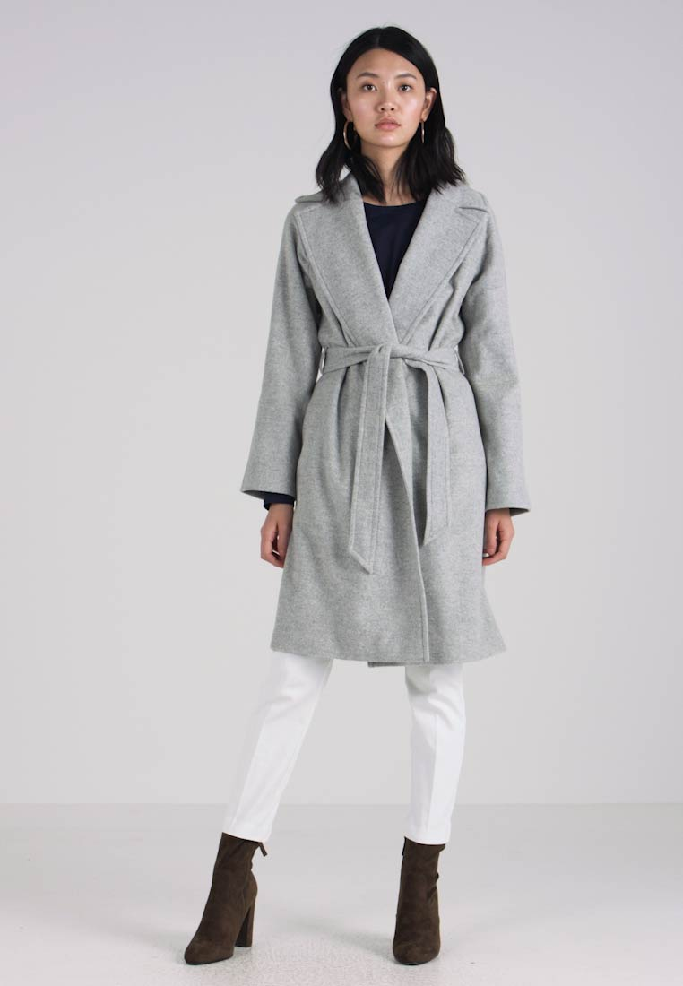 GANT - WRAP COAT - Wollmantel/klassischer Mantel - light grey melange