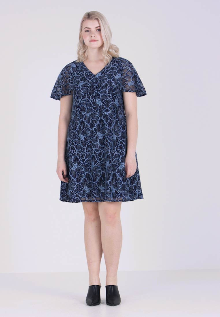 Gabrielle by Molly Bracken - CONTRAST DRESS - Cocktail dress / Party dress - navy blue