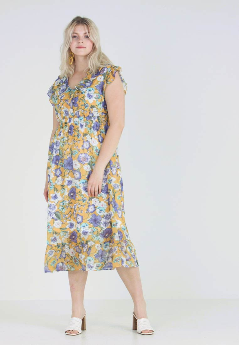 Gabrielle by Molly Bracken - FLORAL DRESS - Korte jurk - saffron yellow