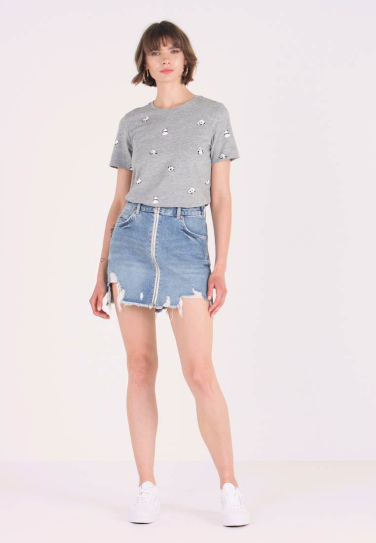 cheap for discount 447ed c033b ZIP SKIRT - Jeansrock - mid blue