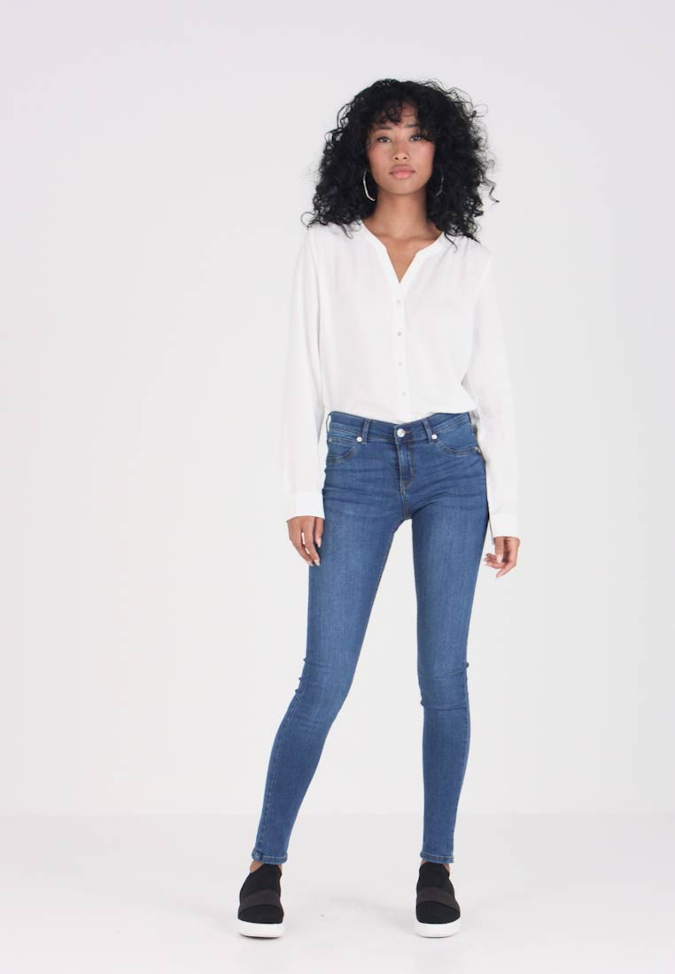 Gina Tricot - LOW WAIST SUPERSTRETCH - Jeans Skinny Fit - Midblue F