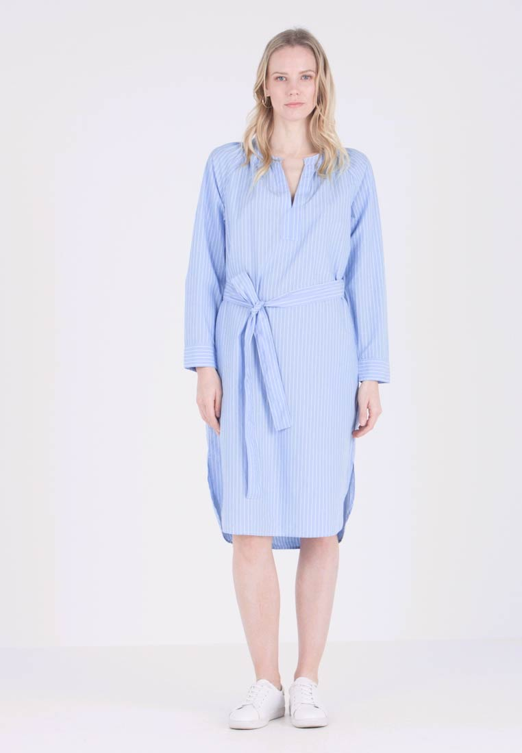GAP - POPLIN DRESS MIDI - Vestido camisero - blue