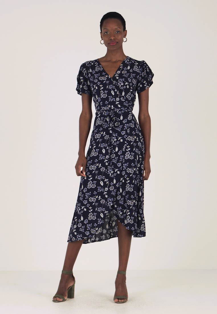Midi Navy Dress Freizeitkleid Gap Wrap Fxq1Baa