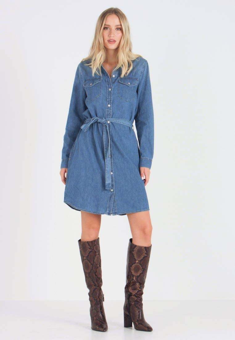 GAP - SHRTDRESS WOOSTER - Robe en jean - medium indigo