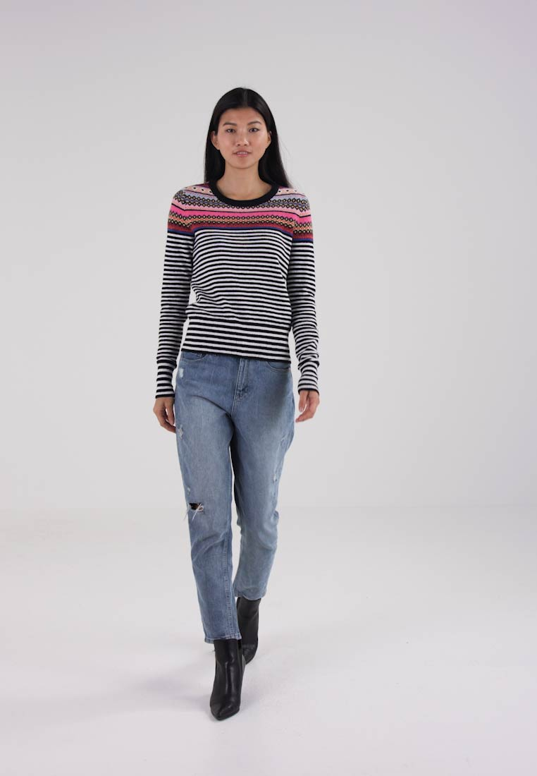 GAP CREW NECK PLACED STRIPE FAIRISLE - Jersey de punto crazy fairisle