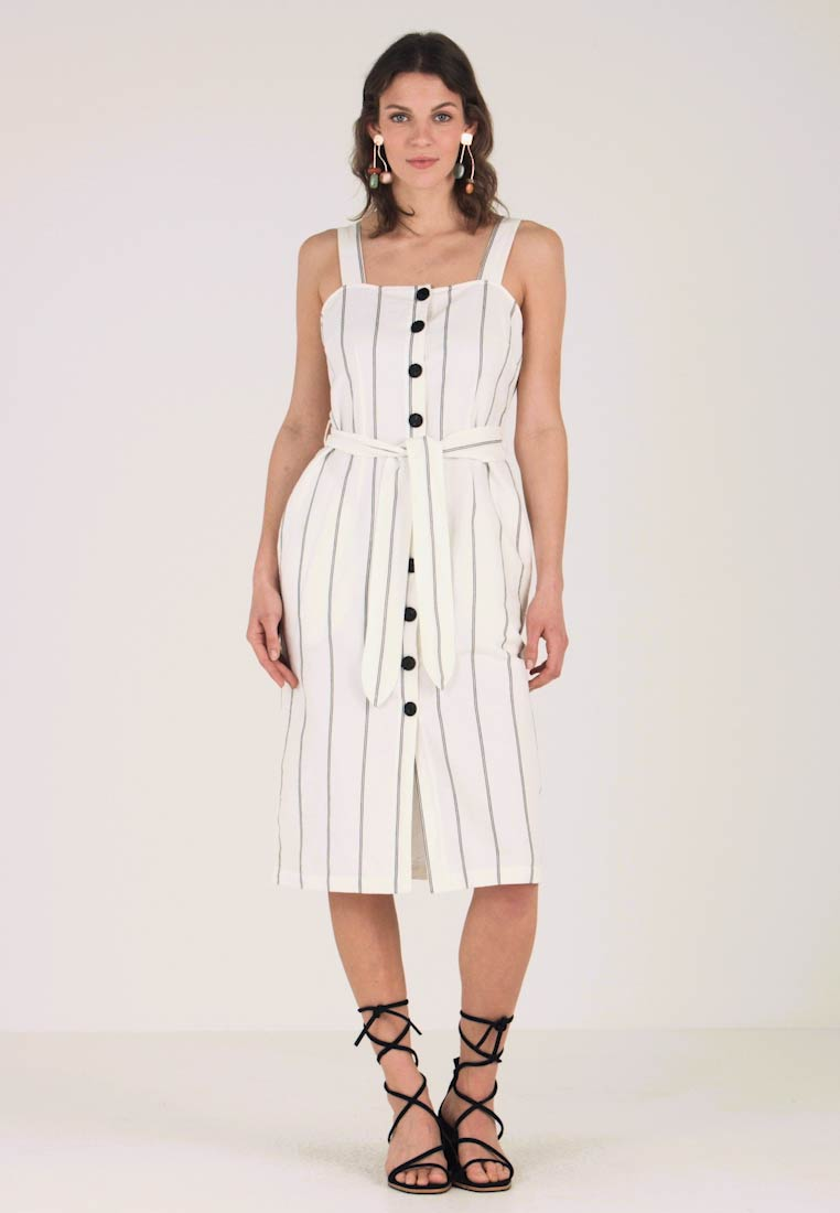 Great Plains London - SANTA STRIPE BUTTON DRESS - Vestido camisero - milk/black