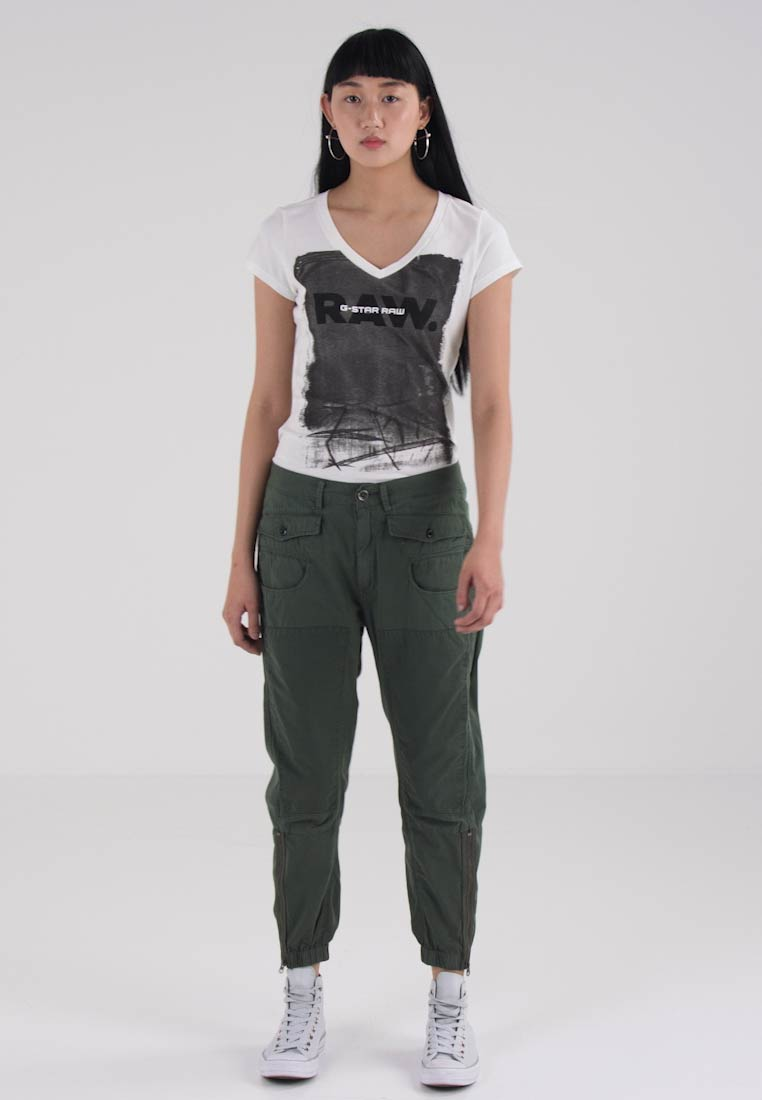 G-Star ARMY RADAR MIX LOOSE CROPPED PANT - Bukser - lt hunter