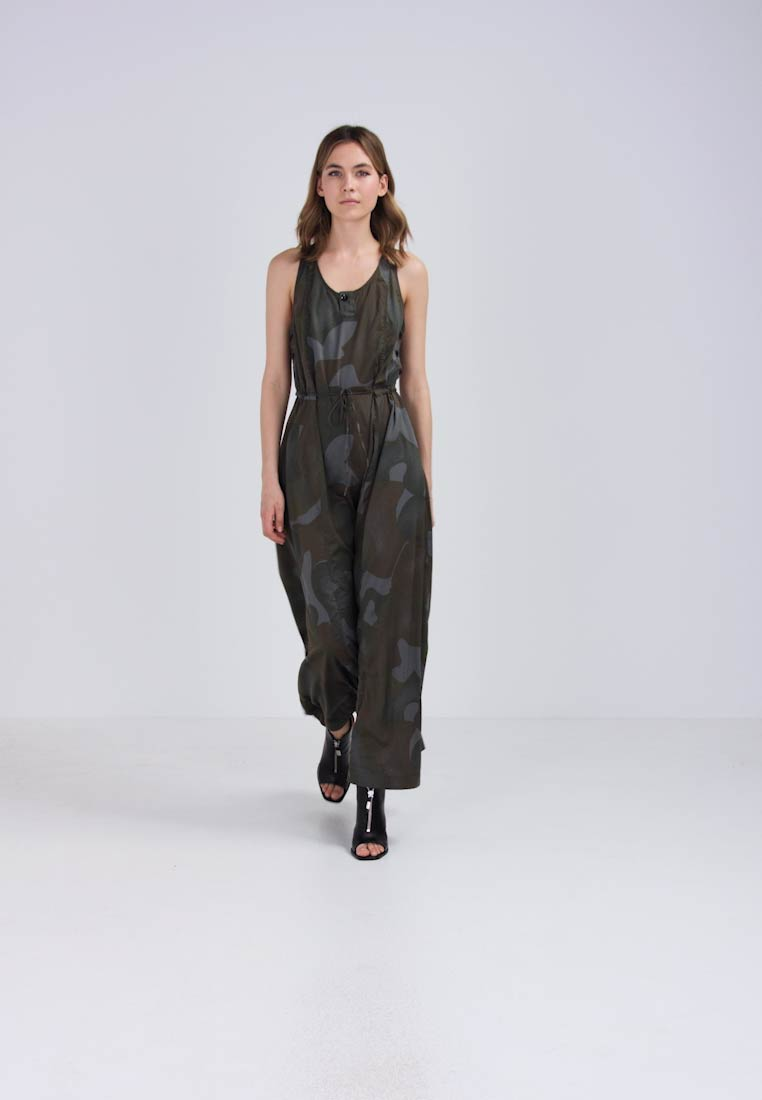 G-Star ARMY RADAR MAXI DRESS S/LESS MBC AOP - Maxi-jurk