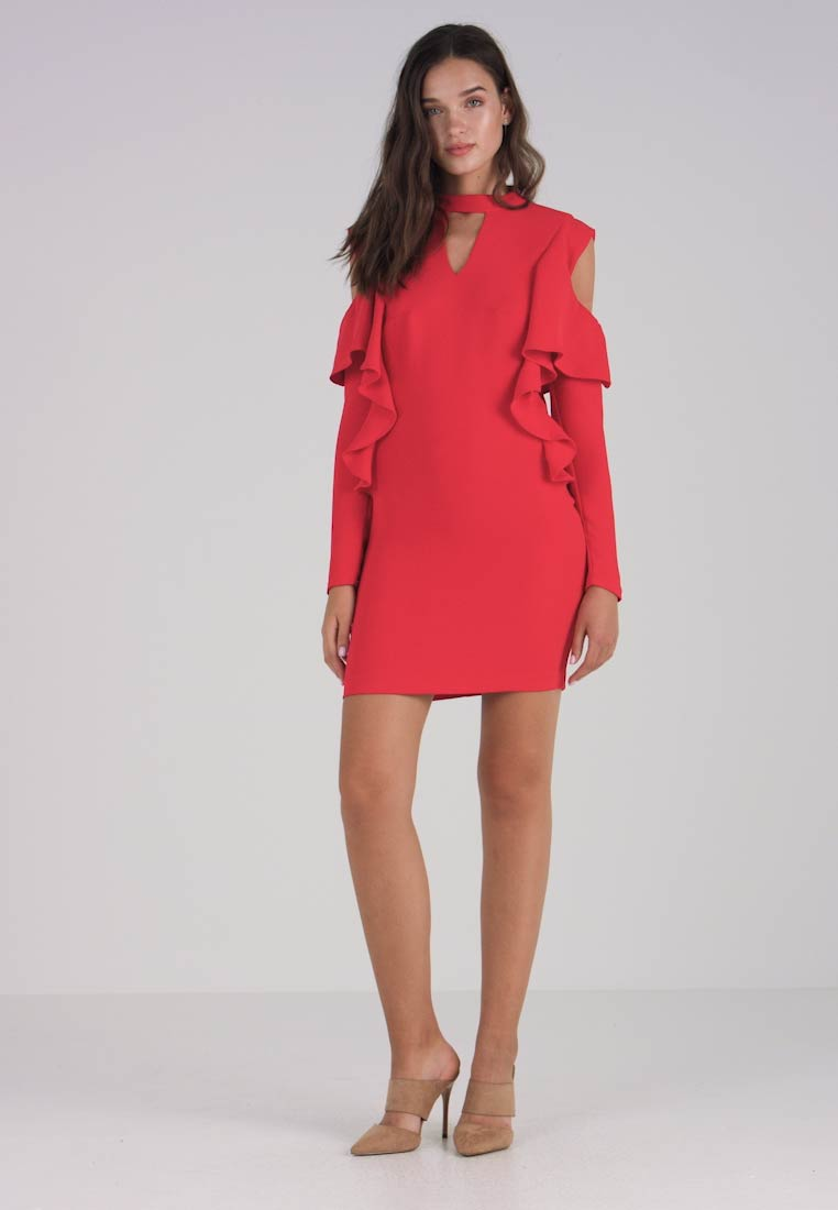 Guess Party Cocktail Red Aki Flammable Dress rtEqrw8