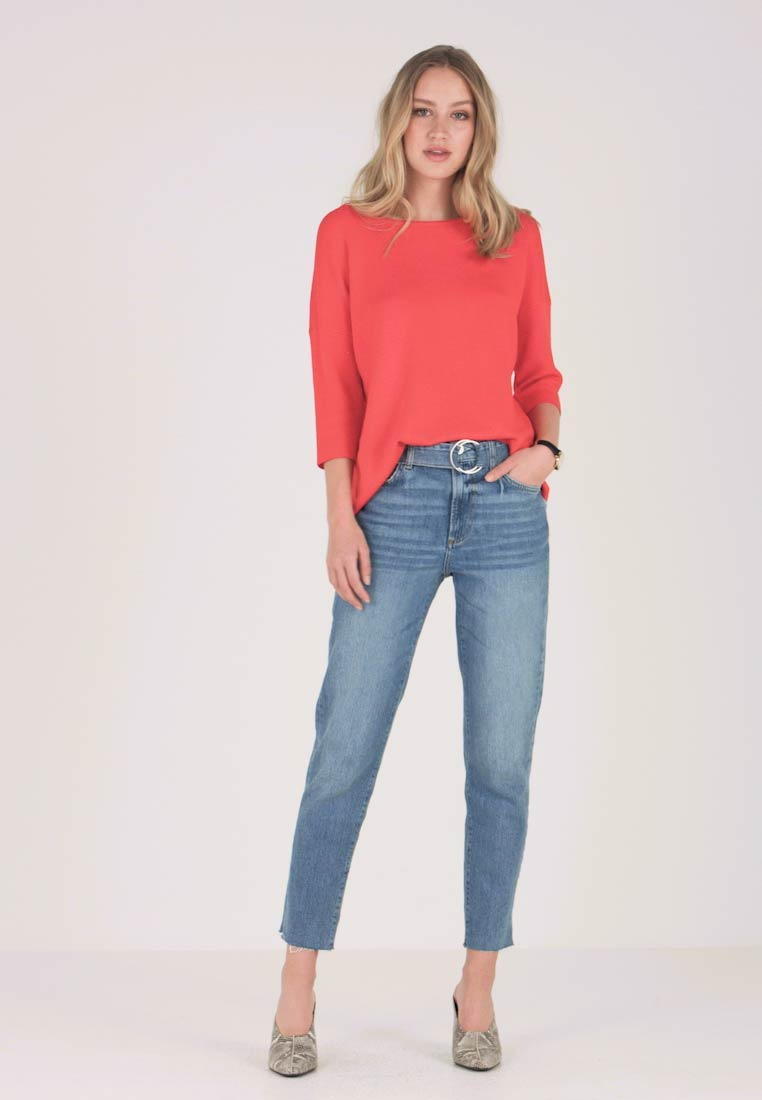 Guess - THE IT GIRL SKINNY BELT - Jean droit - tweet wash