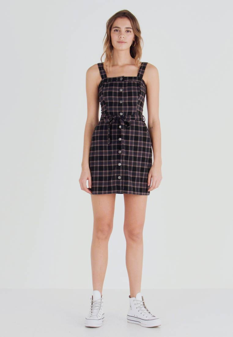 clearance prices best quality los angeles Hollister Co. Fodralklänning - black plaid - meta.domain