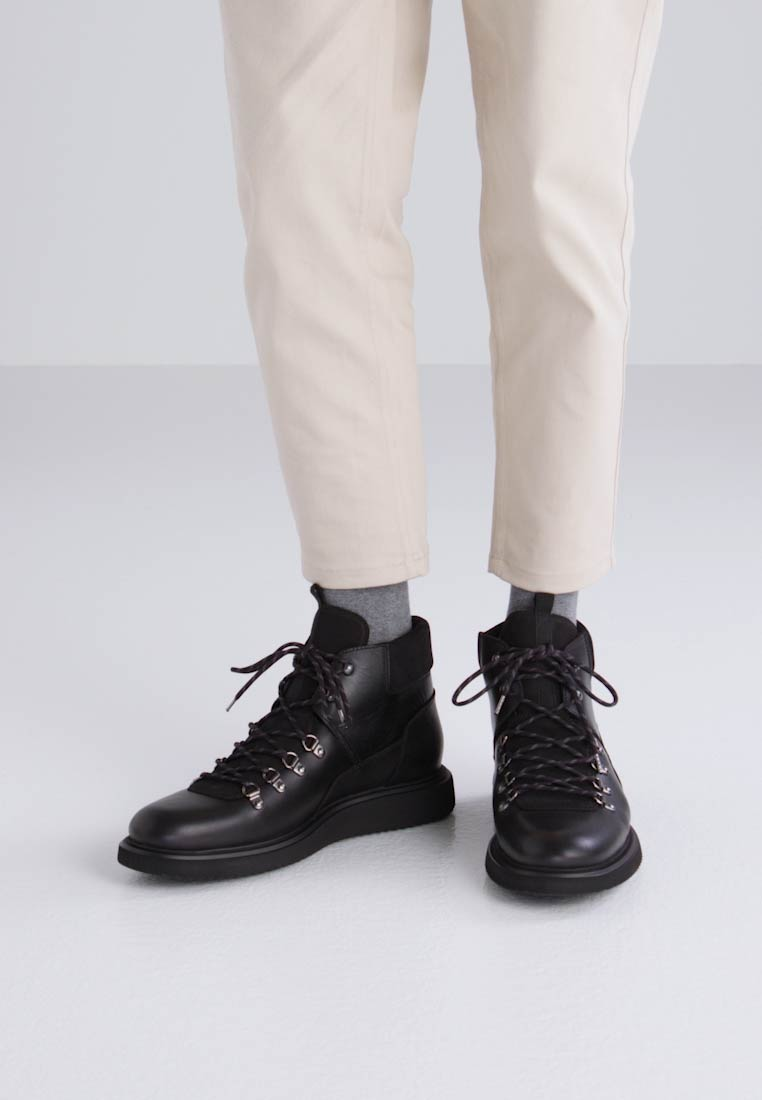 H by Hudson STANGE - Botines con cordones black