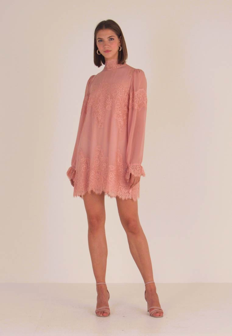 We are HAH - QUEEN A DAY DRESS - Cocktail dress / Party dress - copper/rose
