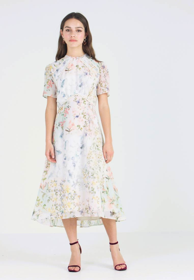 Hope & Ivy Petite - HIGH NECK FLORAL SKATER DRESS WITH OPEN BACK - Maxikleid - multi