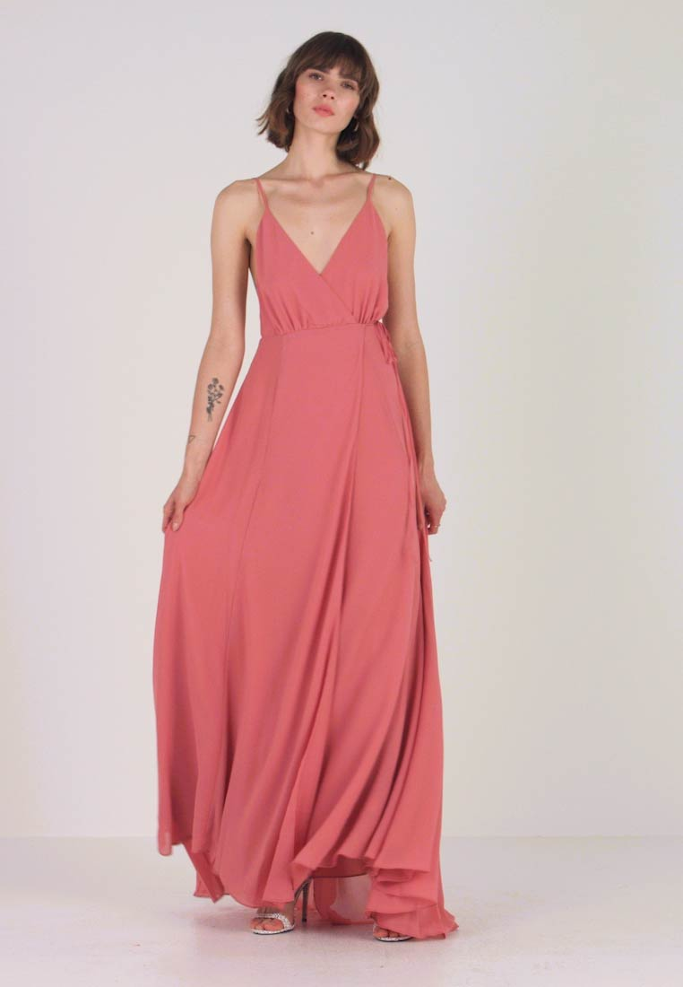 Honey Punch - SOLID WRAP DRESS - Maxi dress - raspberry