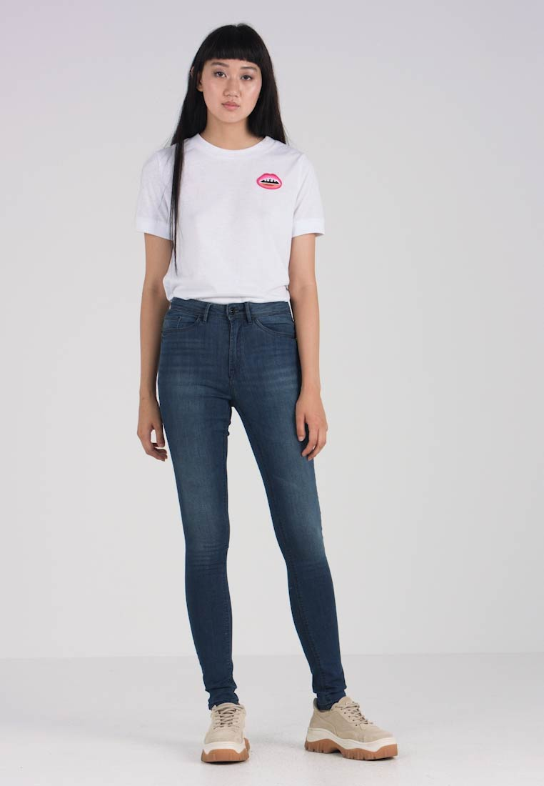 ICHI - ERIN HIGHWAISTED  - Jeans Skinny Fit - mid blue
