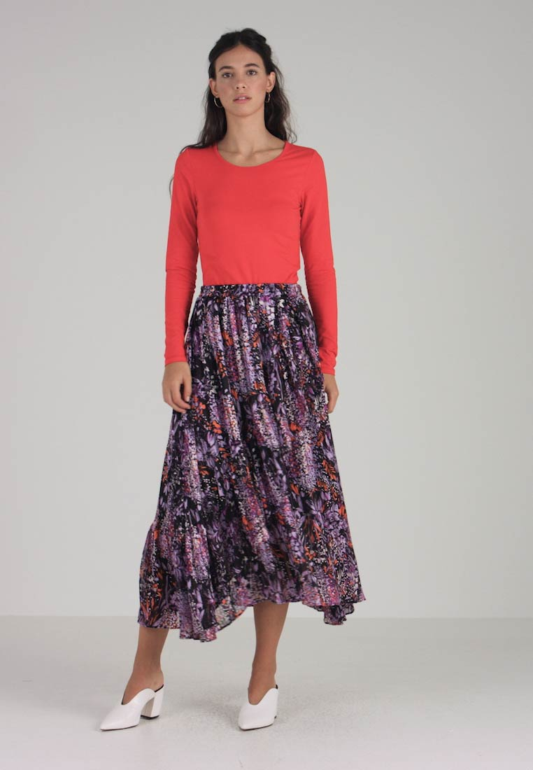 InWear - HILMA SKIRT - Falda larga - purple