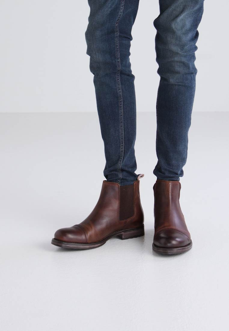 Jack & Jones JFWGREG CHELSEA - Bottines marron