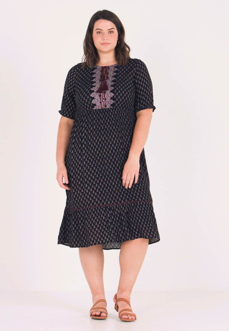 Junarose - JRAVIAYA MIDI DRESS - Vestido largo - black