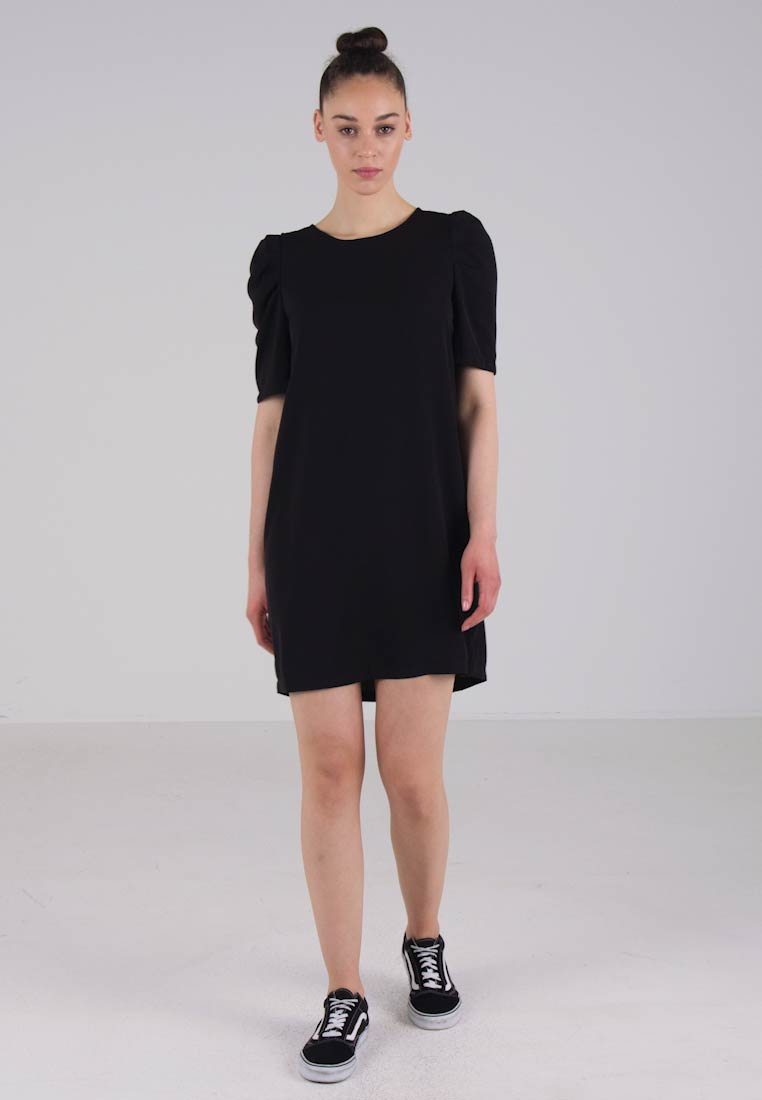 JDY - JDYINGRID 2/4 SHORT DRESS - Sukienka letnia - black