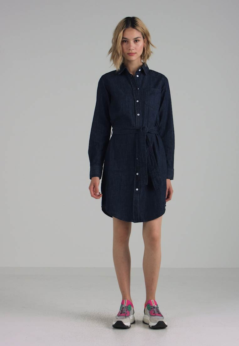 JDY - JDYESRA SHIRT DRESS  - Jeanskjole / cowboykjoler - dark blue denim