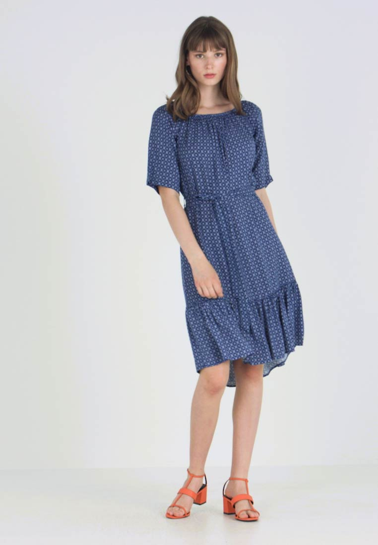 JDY - STAR  - Day dress - blue depths/cloud dancer