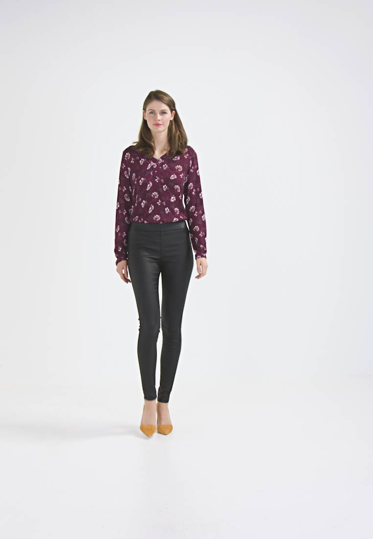 Kaffe - ADA COATED - Jeggings - black deep