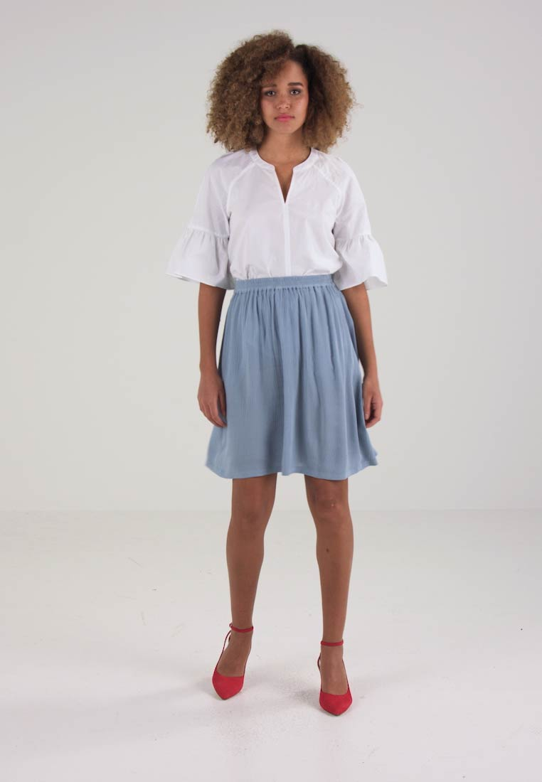 Kaffe ADALUZ ANNA SKIRT - A-line skjørt - faded denim