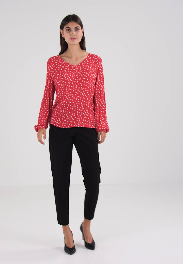 Kaffe AMBER STAR - Blusa haute red chalk
