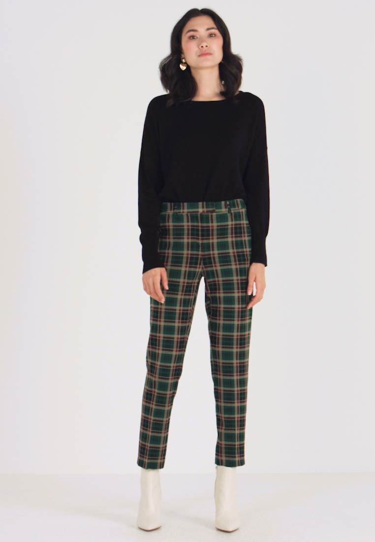 King Louie - ANN PANTS RODEO CHECK - Bukse - peacock green