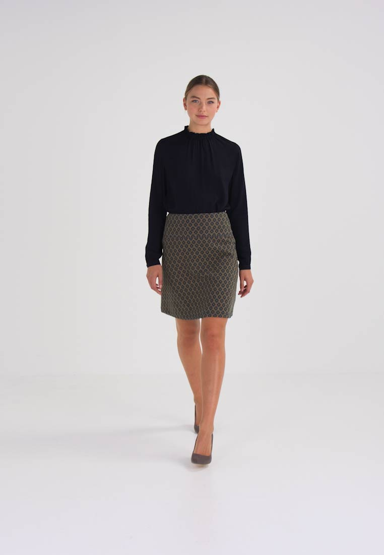 King Louie BORDER SKIRT LYNE - A-lijn rok