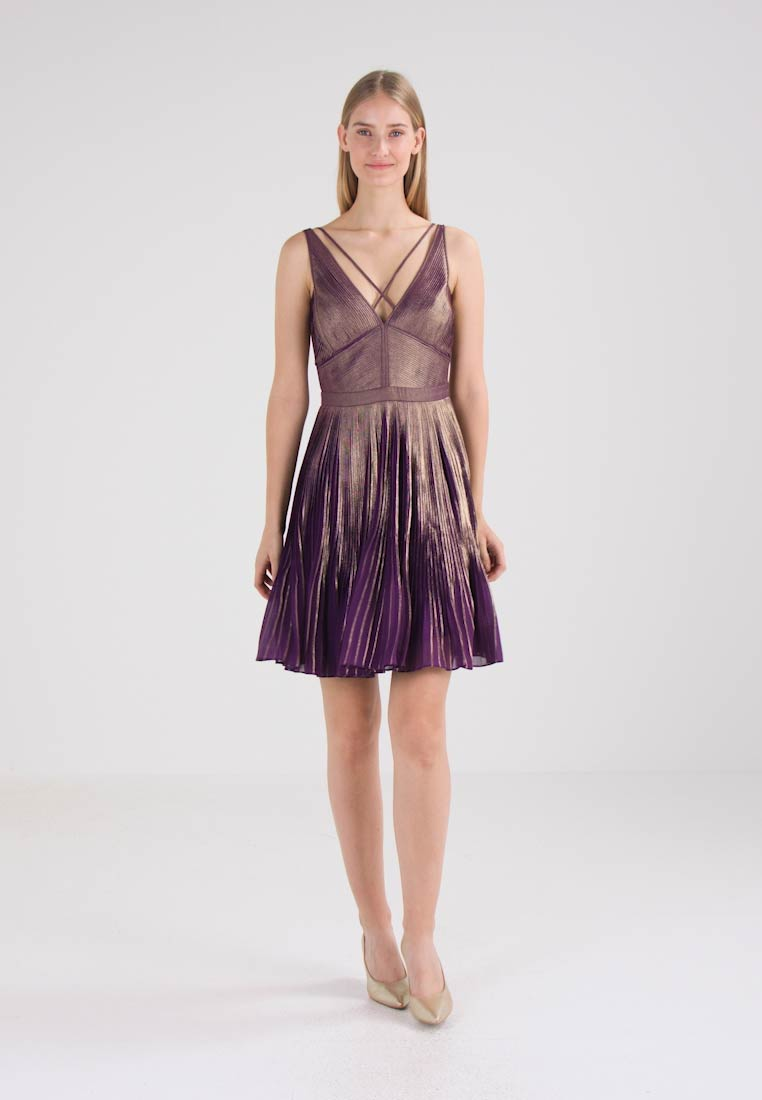 Karen Millen METALLIC PRINT PLEAT DRESS COLLECTION - Cocktailkleid ...