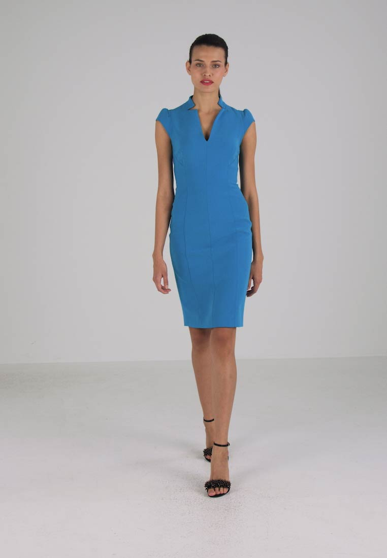 Karen Millen COLOURED PENCIL DRESS - Hverdagskjole - blue