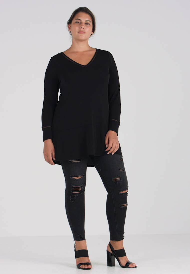 Black Neck Live Long Peplum Sleeved With Top Unlimited Ladder London Details 6PWPnvxI