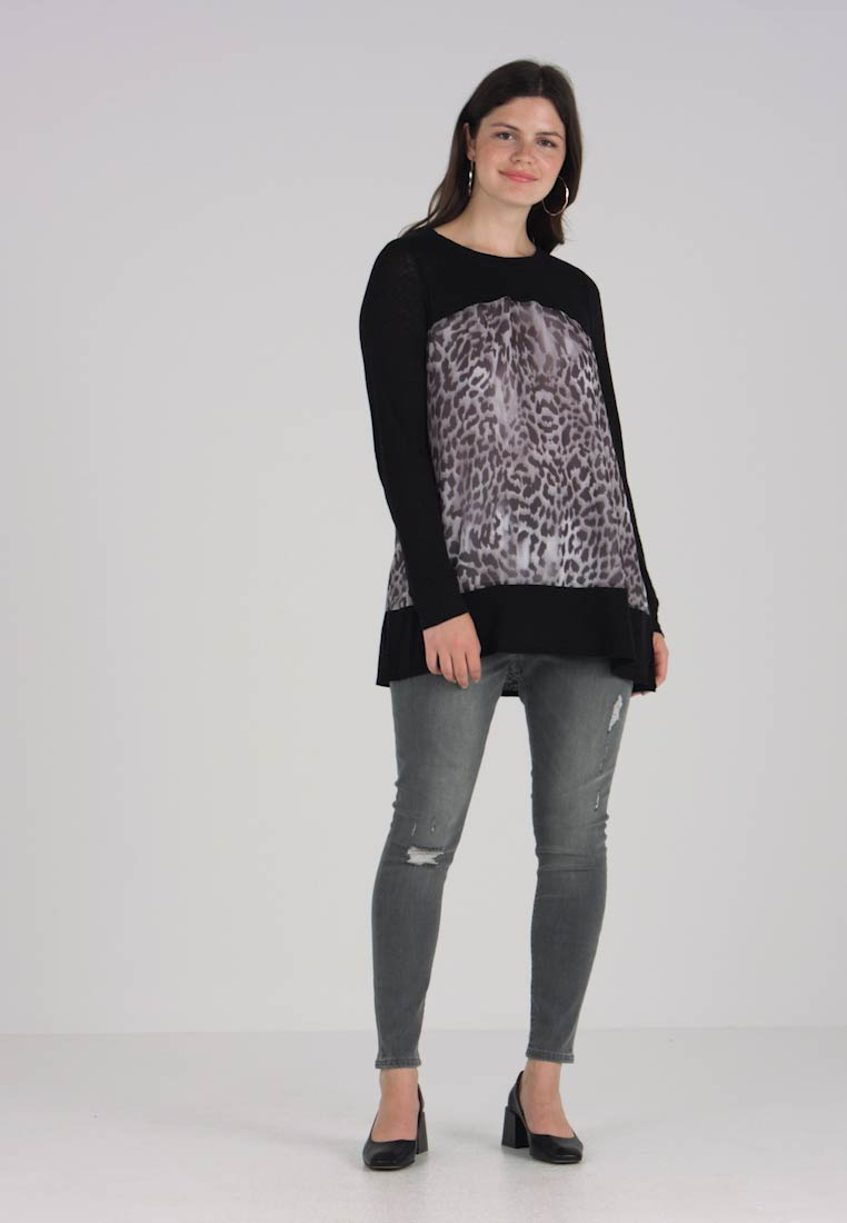 Grey London Blouse Pale Live Unlimited Contrast With 1YxBPTw