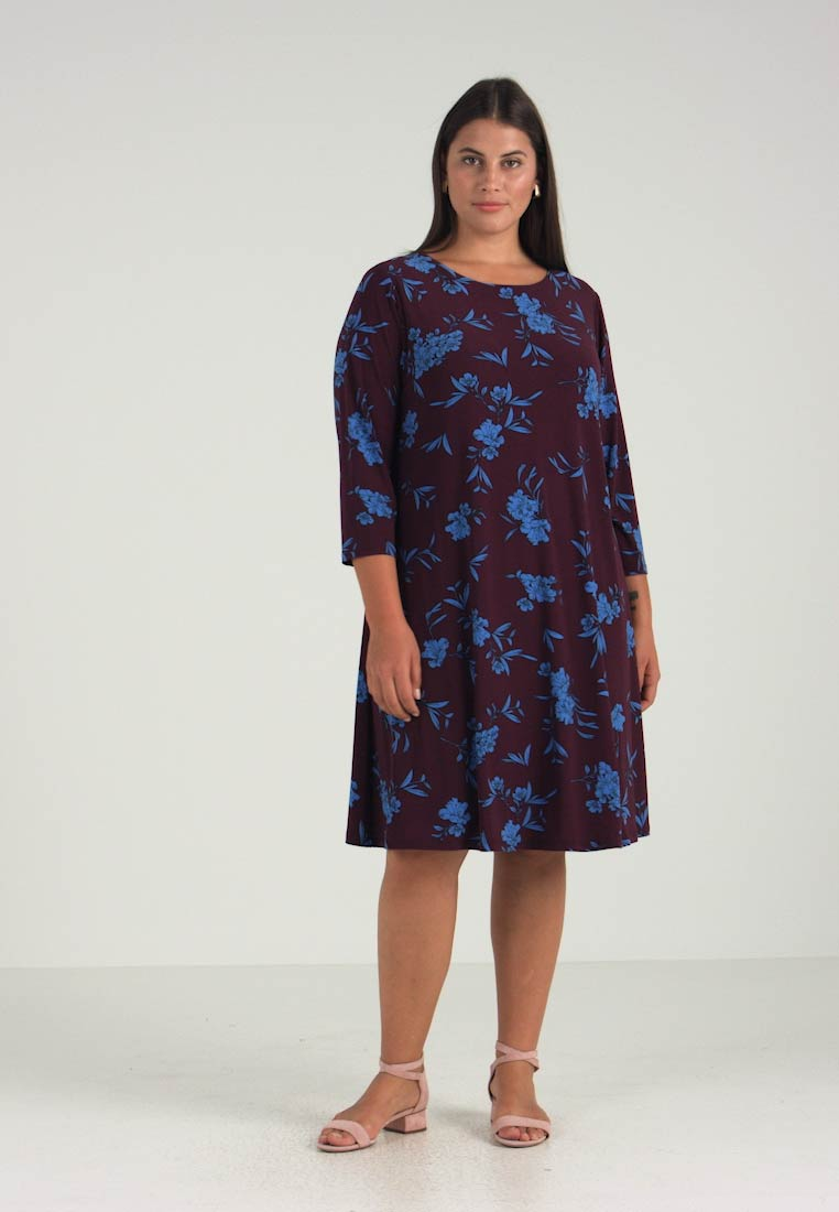 Passion Abbi Ralph rive Woman Dress Floral Almonte Jersey Lauren Plum n7I1O0qw0T
