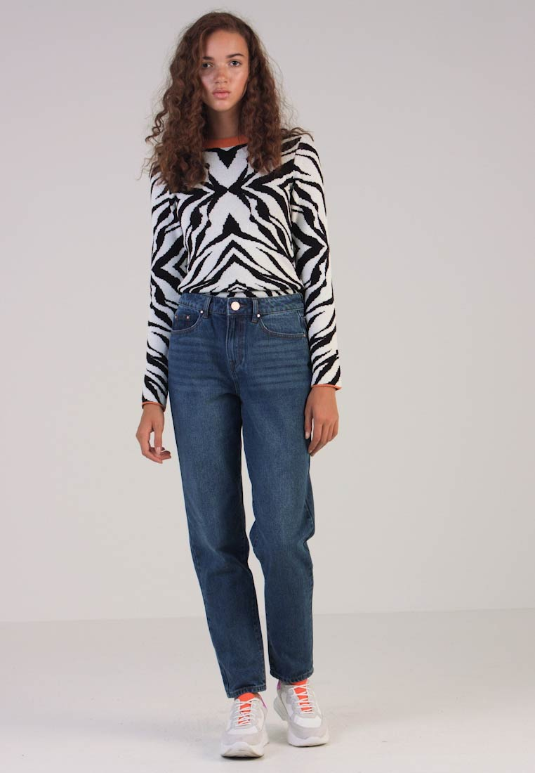 Lost Ink - VINTAGE MOM IN COCOA - Jeans Relaxed Fit - blue denim