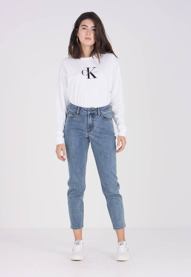 Lost Ink - TOMBOY POWDER - Jeans Relaxed Fit - mid denim