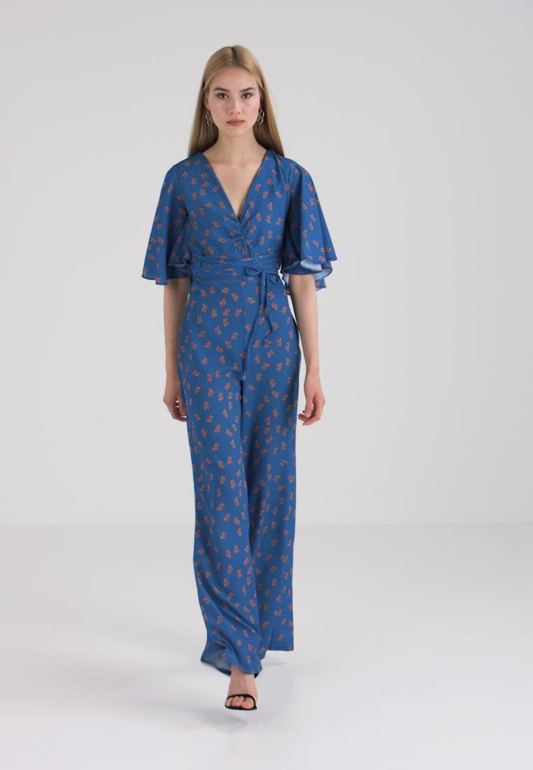 Lost Ink - DITSY PRINT  - Jumpsuit - blue